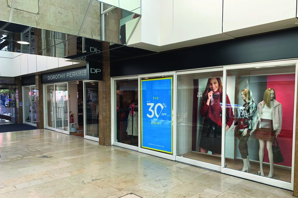 Dorothy Perkins store front